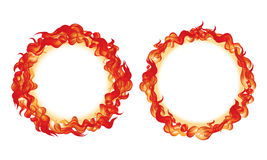 Fire on Circle Royalty Free Stock Photos
