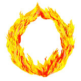 Fire circle. On a white background Royalty Free Stock Photography