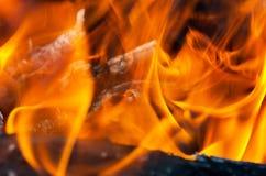 Fire close-up Stock Photos