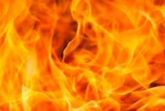 Fire closeup yellow orange flames royalty free stock photography