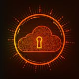 Fire Cloud. Cloud symbol combined with electronic board, concept of cloud computing Royalty Free Stock Photos