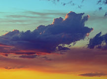 Fire Clouds. This photo was taken at dusk over a forest fire, that gave them there color Stock Image
