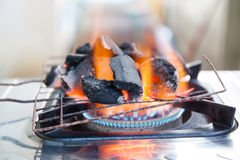 Fire coal. And gas for cooking and party Royalty Free Stock Photo