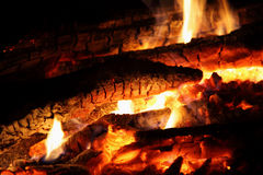 Fire and coals. Royalty Free Stock Photography