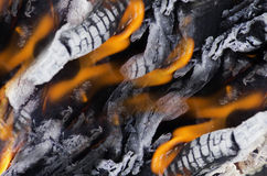 Fire coals Royalty Free Stock Photos