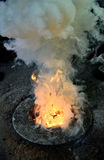 Fire of coke is ready to melt iron Stock Photo