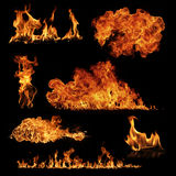 Fire collection Stock Images