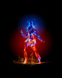 Fire collection, Dancing girl. Background Stock Photography