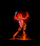 Fire collection, Dancing girl. Background Royalty Free Stock Photography