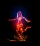Fire collection, Dancing girl. Background Stock Photos