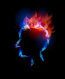 Fire collection, headache. Fire collection Human head, headache Stock Photo