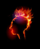 Fire collection, headache. Fire collection Human head, headache Stock Photography