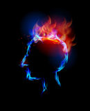 Fire collection, headache. Fire collection Human head, headache Royalty Free Stock Photography