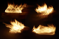 Fire in collection Royalty Free Stock Photo