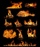 Fire collection Royalty Free Stock Image