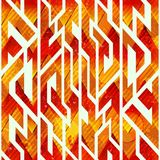 Fire color geometric seamless pattern. Eps 10 vector file Stock Image