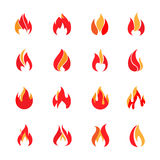 Fire color icons. Vector illustration Royalty Free Stock Photo