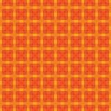 Fire colored square pattern in orange and yellow. Vector seamless repeating pattern of beautiful colorful interacting and organized squares in fire colors Stock Photos