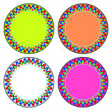 Fire colorful circle frame Stock Image