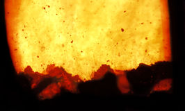 Fire and combustion. Fire and burning coal in a combustion chamber of a power plant stock photography