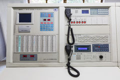 The fire command center equipment Stock Photography