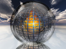 Fire contained in sphere. High Resolution 3D Illustration Fire contained in sphere Royalty Free Stock Photography