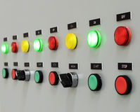 The fire control panel Stock Image