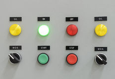 The fire control panel Stock Images