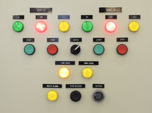 The fire control panel , Industries.  royalty free stock photography