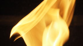 Fire for cooking is blazing. Royalty Free Stock Photo