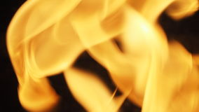 Fire for cooking is blazing. Royalty Free Stock Image