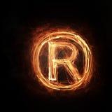 Fire copyright icon Royalty Free Stock Photos