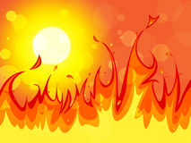 Fire Copyspace Represents Backgrounds Blaze And Solar. Background Fire Showing Empty Space And Sunlight Royalty Free Stock Photography