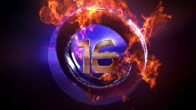 Fire Countdown royalty free illustration