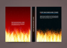 Fire cover background, A4 size paper, Vector illustration. Fire cover background, A4 size paper book Stock Illustration