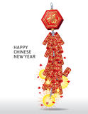 Fire Cracker Chinese New Year. Fire Cracker Chinese for New Year Stock Images