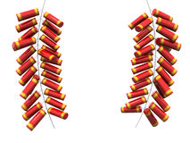 Fire cracker fo chinese new year. Isolated 3d illustration Stock Photos
