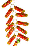 Fire Crackers for chinese new year greeting. Stock Photo