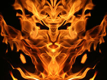 Fire creature Stock Photo