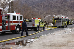 Fire Crew, San Bernardino, California Stock Photo