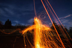 Fire cross Stock Photos