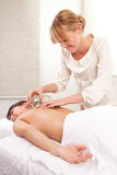 Fire Cupping Acupuncture treatment stock photo