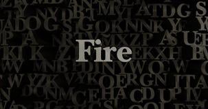 Fire - 3D rendered metallic typeset headline illustration Stock Image