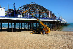 Fire damage. Eastbourne Pier Royalty Free Stock Images