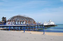 Fire damage at Eastbourne Pier Stock Photos