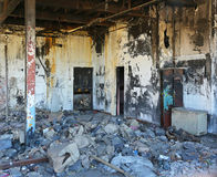Fire damage factory Royalty Free Stock Photography