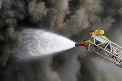 Fire damage stock image