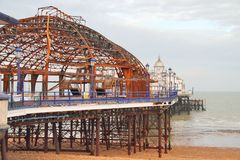 Fire Damage to Eastbourne Pier, Sussex England Royalty Free Stock Image