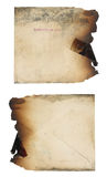 Fire Damaged Envelope Stock Photo