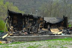 Fire Damaged Home Royalty Free Stock Images